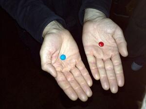 האם תקחו את הגלולה הכחולה או האדומה?